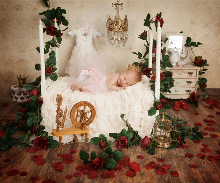 newborn fairy tales portrait