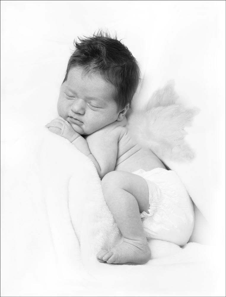 bw newborn artwork